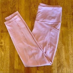 Buttery soft pale pink leggings with pockets